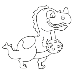 Libros para colorear: Cría de dinosaurio