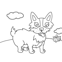 Libros para colorear: Perro en pie