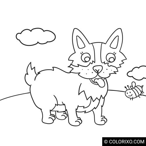 Omalovánky: Stojící pes