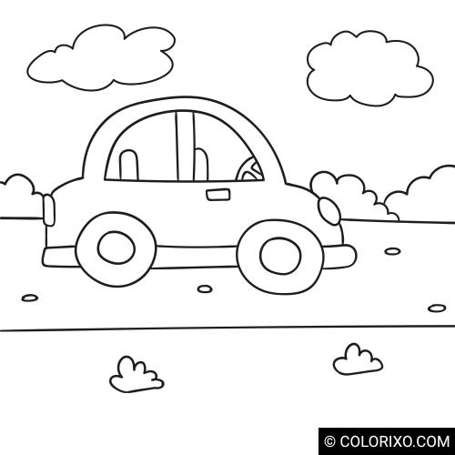 Omalovánky: Roztomilé autíčko