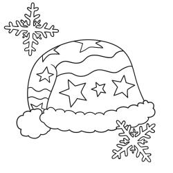 Kleurplaten: Wintermuts met bobbel