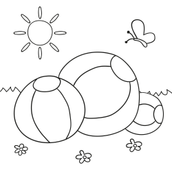 Omalovánky: Nafukovací míče