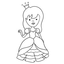 Omalovánky: Princezna v krásných šatech