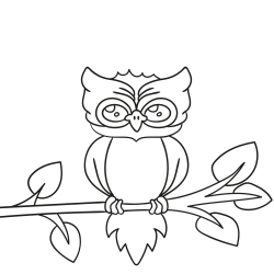Coloring book: Wise owl