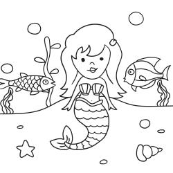 Omalovánky: Mořská víla