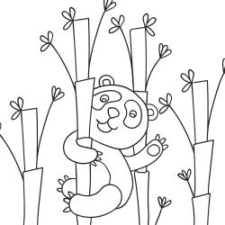 Livros de colorir: Panda a acenar