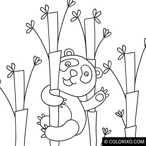 Omalovánky: Mávající panda