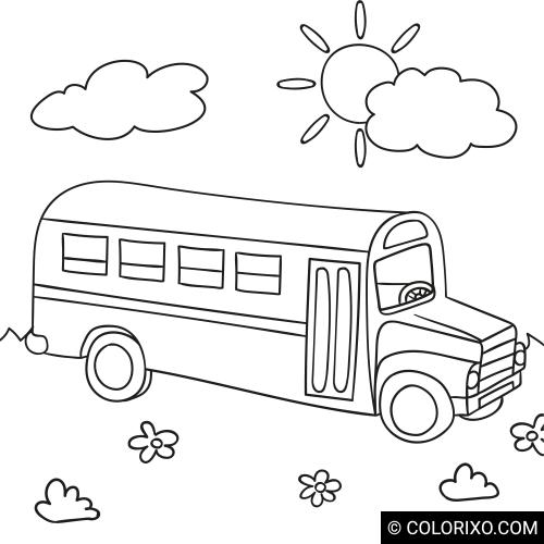Omalovánky: Školní autobus