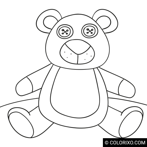 Розмальовки: Плюшевий ведмедик