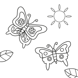 Coloring book: Two butterflies