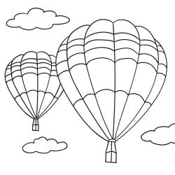 Kolorowanki: Balony