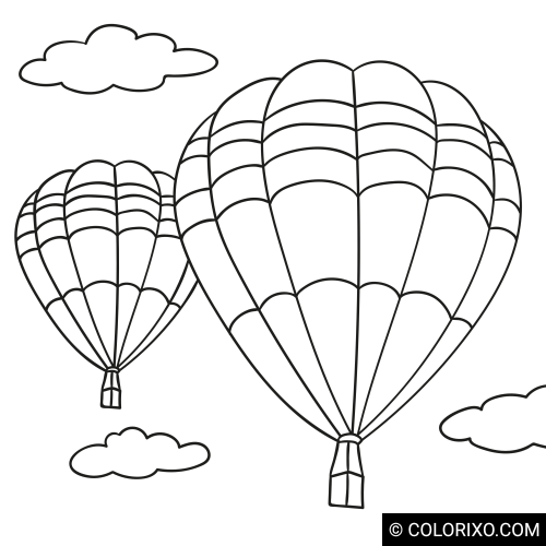 Omalovánky: Horkovzdušné balóny