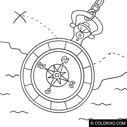 Omalovánky: Kompas