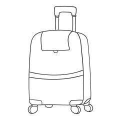 Omalovánky: Cestovní kufr na kolečkách