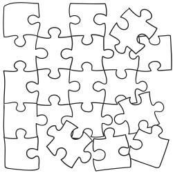 Omalovánky: Barevné puzzle
