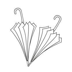Omalovánky: Deštníky
