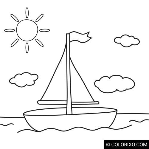 Omalovánky: Malá plachetnice