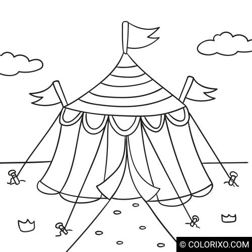 Розмальовки: Цирковий намет