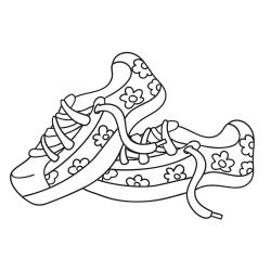 Livros de colorir: Sapatos de ténis bem coloridos