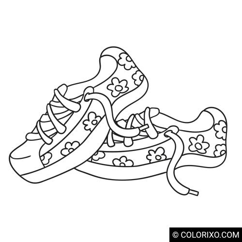 Розмальовки: Кросівки яскравих кольорів
