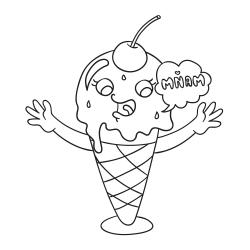 Omalovánky: Zmrzlinový poutač