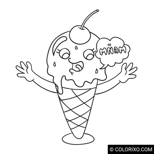 Розмальовки: Баннер морозива