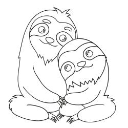 Livros de colorir: Um par de preguiças