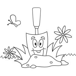 Omalovánky: Zahradní lopatka