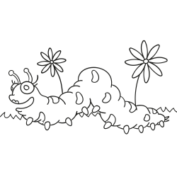 Livros de colorir: Lagarta rosa