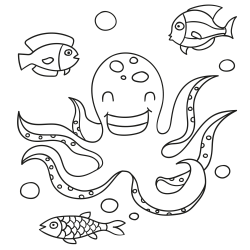 Kleurplaten: Onder water kijken