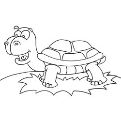 Livros de colorir: Tartaruga alegre