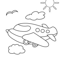 Kolorowanki: Mały samolot
