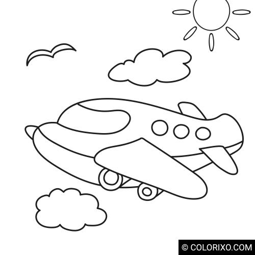 Omalovánky: Malé letadlo