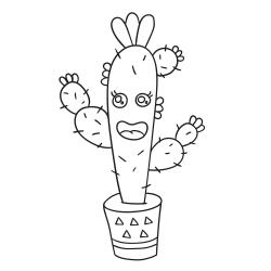 Omalovánky: Vysoký kaktus
