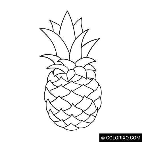 Malbuch: Ananas