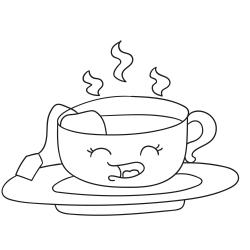 Omalovánky: Hrnek s čajem