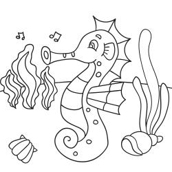 Omalovánky: Mořský koník