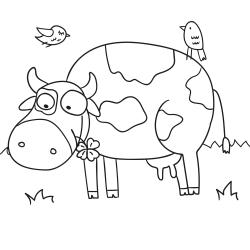 Cahier àcolorier: Petite vache