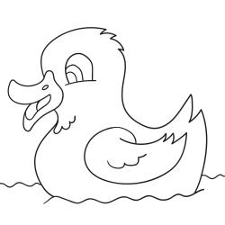 Maľovanky: Kačička na vode