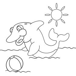 Cahier àcolorier: Dauphin espiègle