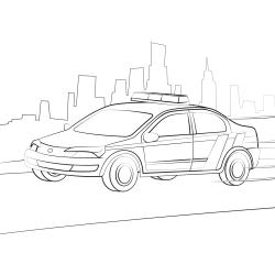 Kolorowanki: Samochód policyjny
