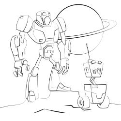 Omalovánky: Dva roboti
