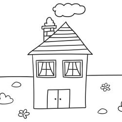 Disegni da colorare: Casa famigliare