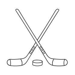 Kolorowanki: Kije hokejowe