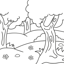 Kolorowanki: Widok na las