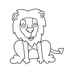 Omalovánky: Mladý lev
