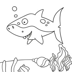 Kolorowanki: Rekin