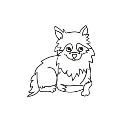 Kolorowanki: Leżący pies