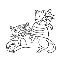 Книга за оцветяване: Котенца