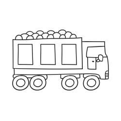 Книга за оцветяване: Камион с въглища